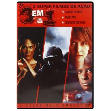 Dvd - Rajada De Fogo + Tigerland + Coragem Sob Fogo - 3 Em 1