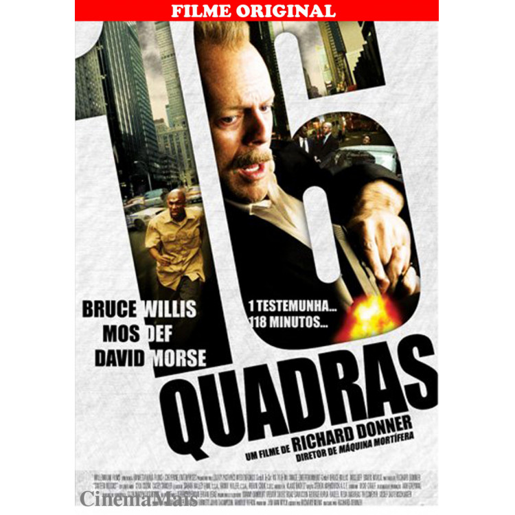 16 Blocks - 16 QUADRAS - Bruce Willis -  DVD  Ação