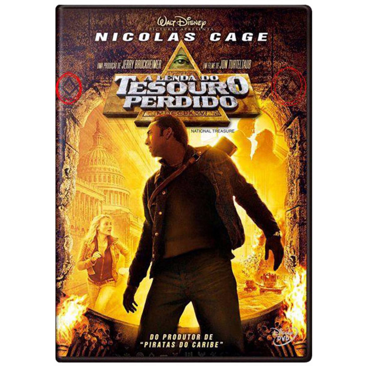 A Lenda Do Tesouro Perdido - Nicolas Cage - Disney Dvd