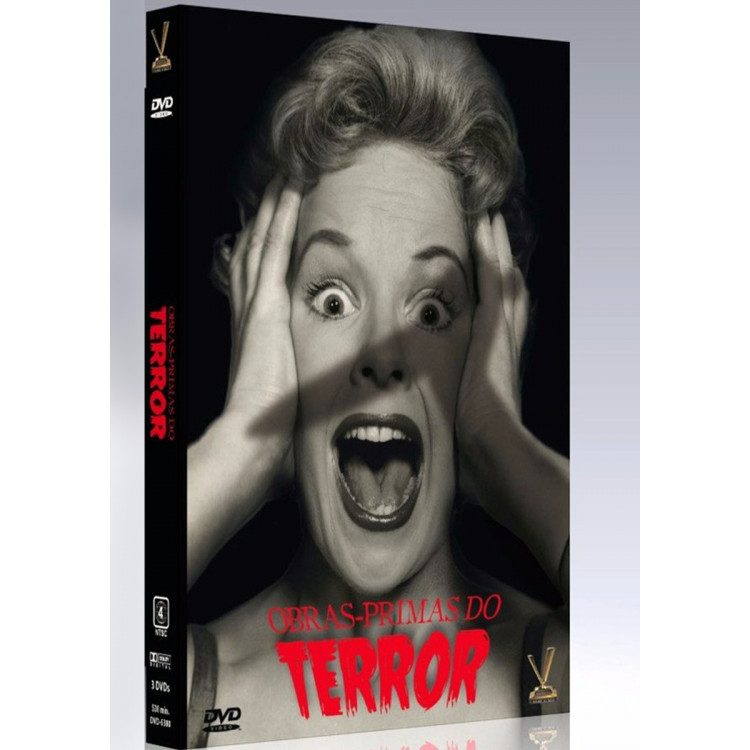 Box Obras Primas Do Terror - Vol 1- C/ 6 Filmes Original - Dvd